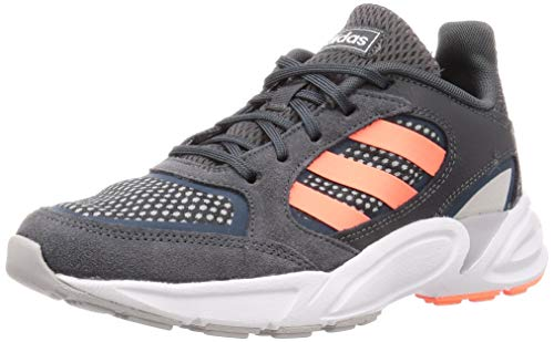 Adidas 90s VALASION, Zapatillas para Correr Mujer, Core Black/Signal Coral/Dove Grey, 38 2/3 EU