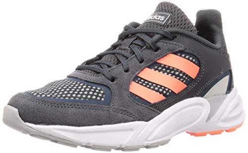Adidas 90s VALASION, Zapatillas para Correr Mujer, Core Black/Signal Coral/Dove Grey, 41 1/3 EU