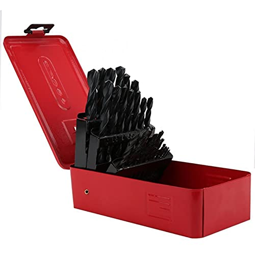 LUYIPINGQIWND Home Strumenti 25pcs HSS Drill Bit Kit Acciaio ad Alta velocità Straight Skink...