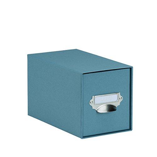 Rössler 1327452150 - S.O.H.O. Aufbewahrungs CD-Schubladenbox, mit beschriftbarem Einsteckschild und Griff, denim