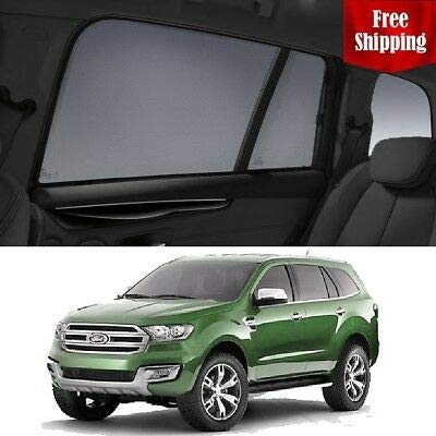 Great Deal! Magnetic Car Window Shades for Ford Everest 2015 UA Car Rear Magnetic Sun Blind Shade Ba...