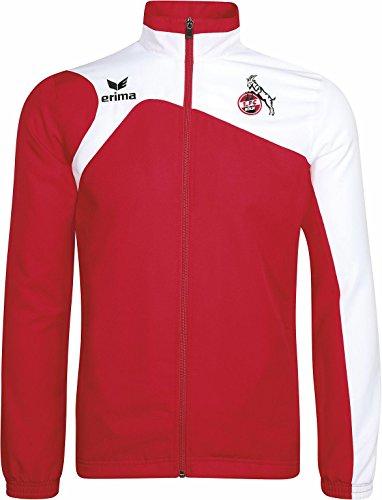 Chaqueta de entrenamiento del FC Köln, color rojo/blanco, tamaño medium