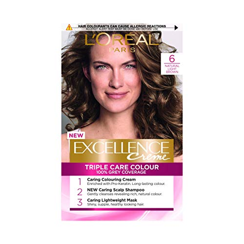 L\'Oreal Excellence Permanent Hair Colour 6 Natural Light Brown