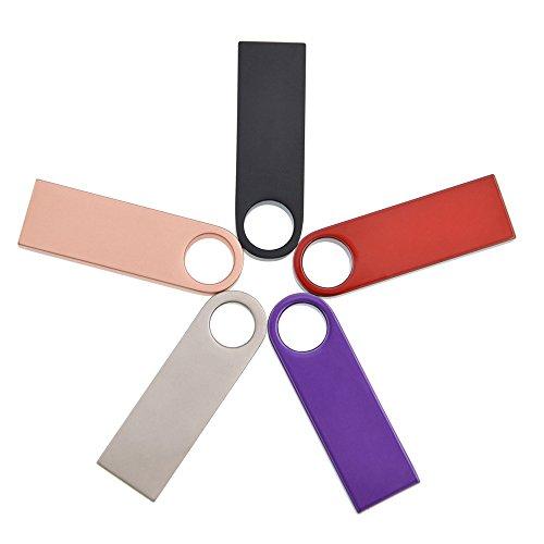 Kepmem 2GB/4GB/8GB/16GB/32GB 5 Pezzi Chiavetta USB 2.0 Mini Metallo Penna USB Portatile Pendrive
