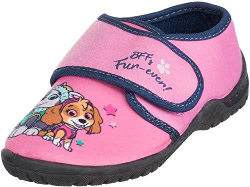 Brandsseller - Zapatillas de estar por casa para niña, con logotipo de la Patrulla Canina, color Rosa, talla 30/31 EU