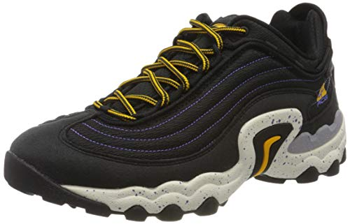 Nike Air SKARN, Scarpe da Ginnastica Uomo, Black/University Gold/Psychic Purple, 44 EU