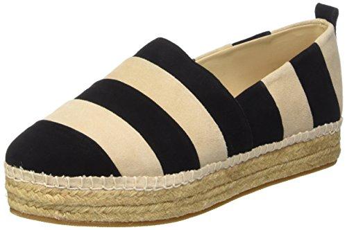 Steve Madden Womens Pattie Striped Slip On Espadrille Shoes, Black Multi, US 8.5