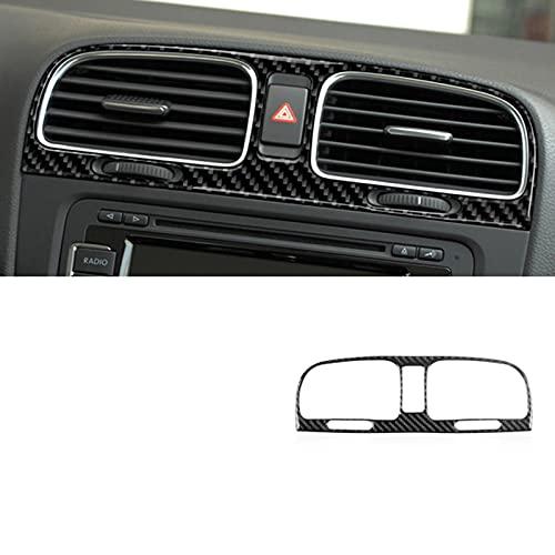 BTOEFE Carbon Fiber Car Interior Cover Trim Aufkleber Aufkleber, für Volkswagen VW Golf 6 GTI MK6 2008-2012 Styling Zubehör