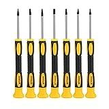 Juego de destornilladores magnéticos de 7 piezas, destornillador tipo T3 / T4 / T5 / T6 / T7 / TR8 / TR10, agarre de cojín profesional y antideslizante para reparar manualidades de mejora del hogar