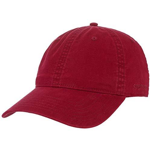 Stetson Ducor Sun Guard Fullcap Herren - Baseballcap aus Bio-Baumwolle (nachhaltig) - Frühjahr/Sommer - Cap mit Sonnenschutz UV 40+ - Basecap Stonewashed-Look - Outdoorcap Bordeaux XL (60-61 cm)