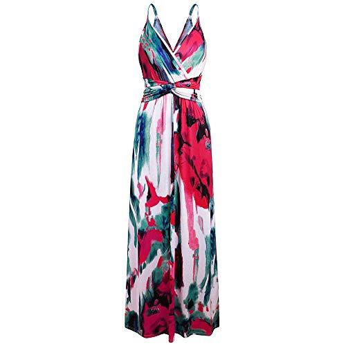 LXD Frauen-Strandkleid-reizvoller Hosenträger-Halter-Damen-Strandkleid-Blumenkleid-Strand-Rock Mode-reizvoller Strand-Rock,rot,X-Large