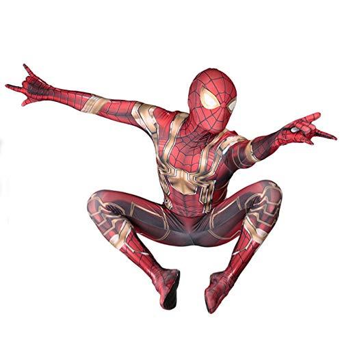 LINLIN Iron Man de Halloween Cosplay Nios Potencia de Banda Estrecha Carnival Bodies Partido de la Mascarada de impresin en 3D Body Lycra Spandex,Red-Kid XS 95~115cm