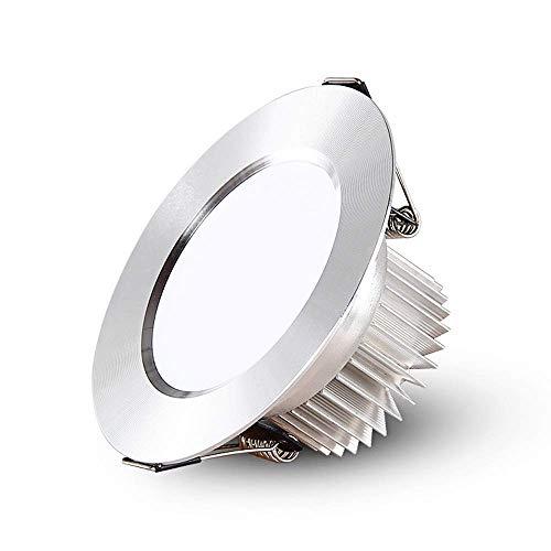 5W GU10 D SPOT LIGHT 50W Halógena Equivant 410LM Bombilla de luz blanca cálida 3000K GU10 Iluminación empotrada [Clase Energy A +] Superficie Montada COB Iluminación Sala de estar (Color: Luz Neutral-