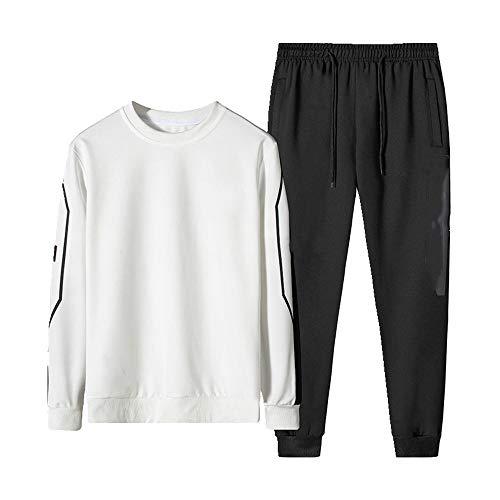 Primavera de los hombres primavera y otoño cuello redondo ropa deportiva casual traje de dos piezas