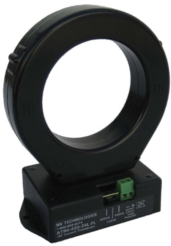 NK Technologies ATR3-420-24L-FL RMS Current Transducer, Solid-core, 4-20mA Output Range, 0-375, 0-500, & 0-750A Input Range, 12-40VDC Power Supply