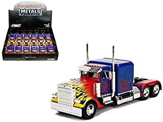 New DIECAST Toys CAR JADA 1:32 Display Metals - Hollywood Rides - Transformers - T1 Optimus Prime 1 Item Without Retail Box 30877-DP1