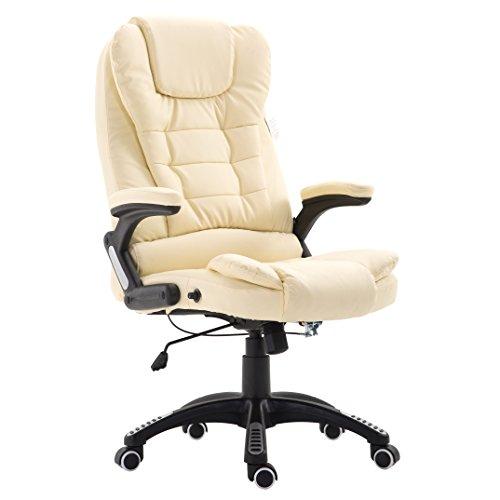 Cherry Tree Furniture Executive Recline Extra Padded Office Chair (Cream PU)