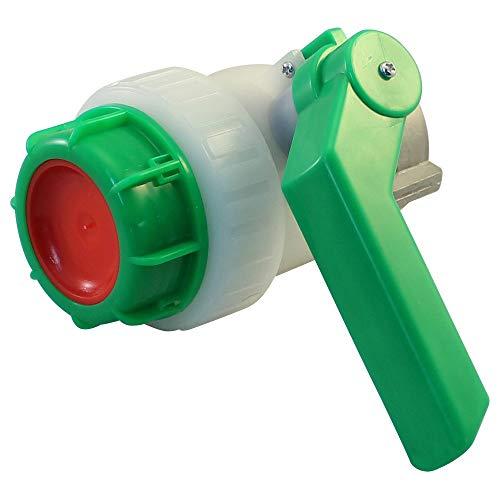 Stabilo-Sanitaer IBC Hahn DN50 ÜWM 55/62 mm S60x6 PE Kunststoff Kugelhahn Absperrhahn Zubehör für Tank Behälter