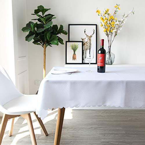 LIUJIU Tischdecke Klassisches Tischwäsche Wasserabweisend Seidenglanz Tafeldecke Tischtücher Pflegeleichte Tafeltuch für Home Dekoration,2.0x2.0m