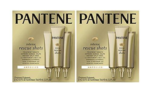 Pantene, Rescue Shots Hair Ampoules Treatment, Intensive Repair of Damaged Hair, Pro-V, 1.5 Fl...