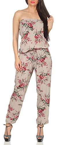 malito dames onesie gebloemd   Overall met stoffen riem   Jumpsuit met bloemenmotief - Playsuit - Romper 1495