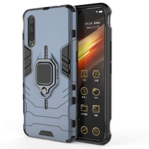 HENGHUA Case for Vivo iQOO Pro 5G, Soft TPU & Hard PC 2 in 1 Stand Function with Magnetic Patch Shockproof Protective Case for Vivo iQOO Pro 5G (Navy)