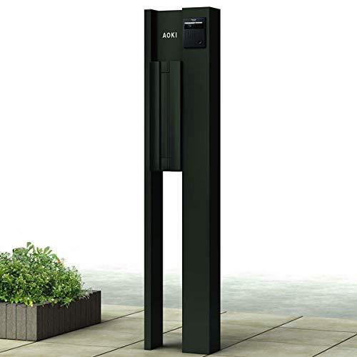 YKKAP ルシアスポストユニットBN02型 照明なしタイプ UMB-BN02 エクステリアポストT9型 前入れ後出し アルミカラー *表札はネームシールです 門柱 機能門柱 ポスト おしゃれ プラチナステン
