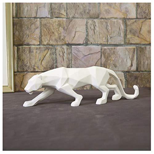 YIGEYI Artisanat en Résine Décoration De Sculpture Léopard De Sable Blanc Surface De Grès Taillée Créatrice Européenne Sculptures Décoratives (Couleur : Blanc)