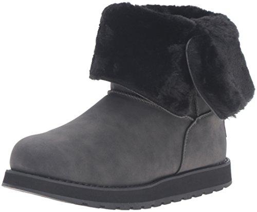 Skechers (SKEES) Keepsakes Leatherette Mid Button, Damen Warm gefüttert Halbschaft Stiefel, Schwarz (Blk), 37 EU (4 UK)