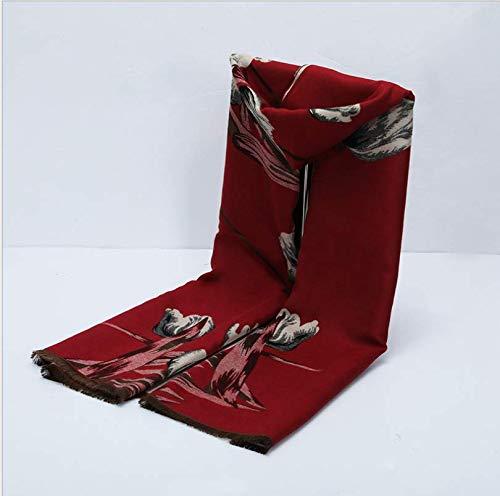 Sportinggoods New Winter warme mode dames sjaal middeleeuwen imitatie kasjmier bloem geborsteld sjaal