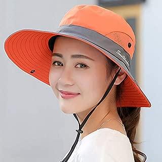 Sincrystal Women Outdoor UV Protection Cap Foldable Mesh Wide Brim Summer Beach Fishing Hat