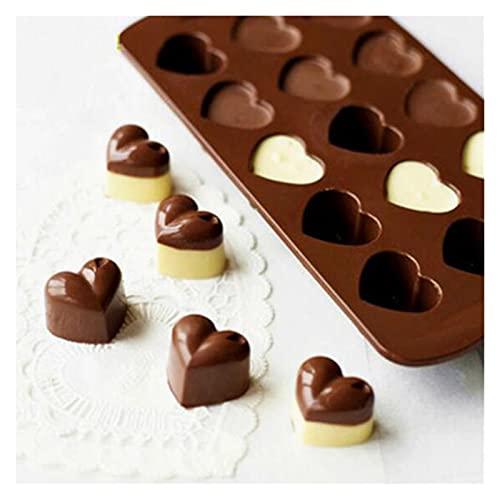 WWWL Molde de Chocolate Amor corazón en Forma de antaño Silicona Chocolate Fondant Molde de Pastel Jalea Hielo cubito Bandeja Molde de Cocina Gadgets Hornear Herramientas de Hornear