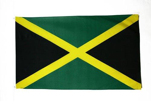 AZ FLAG Flagge Jamaika 150x90cm - JAMAIKANISCHE Fahne 90 x 150 cm - flaggen Top Qualität