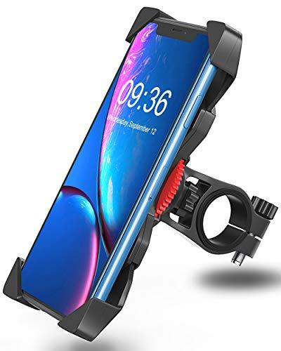Handyhalterung Fahrrad Anti-Shake Bovon 360° Rotation Universal Fahrradhalterung Motorrad Fahrrad Lenker für iPhone 11 Pro Max/Xs Max/Xr/X/8 Plus, Samsung Galaxy S10 Plus und alle 3.5-6.5 Zoll Handys