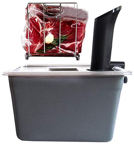 VÄESKE Insulated Sous Vide Container with Rack and Sleeve