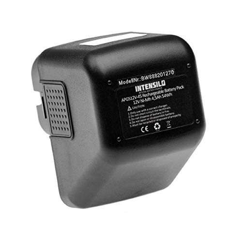 INTENSILO batería compatible con Lematec 12V herramienta eléctrica (4500mAh, 12V, NiMH)