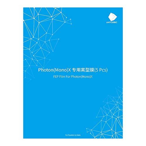 ANYCUBIC FEP-Filmsatz für Photon Mono X/Photon X Harz 3D-Drucker-Ersatzbogen 5PCS