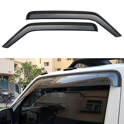 2PCS Auto Seitenfenster Windabweiser für Suzuki JIMNY 2007-2015, Vorne Hinten Regenabweiser/Regenschutz/Windschutz/Sonnenblende, dunkel