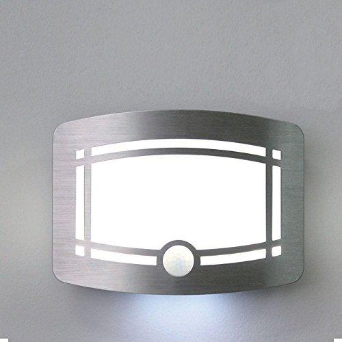Sentik Applique murale avec 10 LED à détecteur de mouvement sans fil pour couloir, chambre, escalier