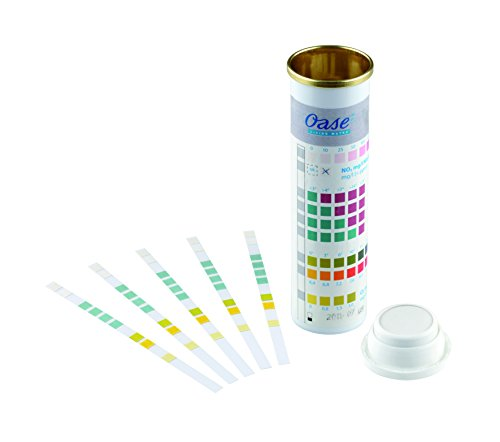 OASE 50570 AquaActiv QuickSticks 6in 1 50 Stück - Wasseranalyse Teststreifen für Teichwasser aus Gartenteich Fischteich Koiteich Schwimmteich Pool