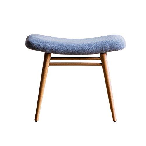 HHCS Tabouret de table en bois massif Tabouret de coiffeuse minimaliste moderne Tabouret de rangement en tissu souple Tabouret en chêne (56 * 33 * 44cm) Chaises et tabourets ( Couleur : A )