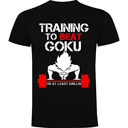 Foreverdai Camiseta Training to Beat Goku - Dragon Ball (XL)