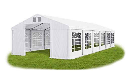 Das Company Partyzelt 6x12m wasserdicht weiß Zelt 560g/m² PVC Plane Hochwertigeszelt Gartenzelt Summer SD