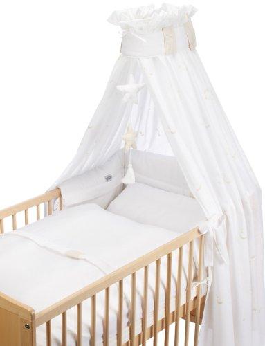 Christiane Wegner 031 00-519 - Bett-Set für Bett 70 x 140 cm, bestehend aus Himmel mit Mobile, Kopfschutz, Bettwäsche 100 x 135 cm und kleinem Kissen 40 x 60 cm