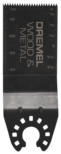 Dremel MM482 Universal Quick-Fit Wood & Metal Flush Cut Oscillating Blade , Black