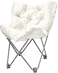 commercial Urban Shop WK657560 Chair Mongolian Butterfly, White butterfly chairs