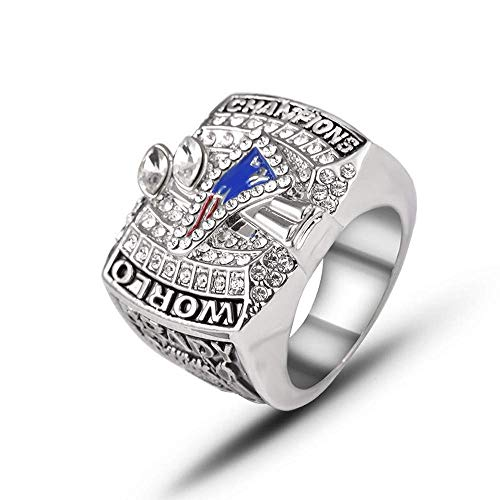 Stijlvolle eenvoud 2003 American Football New England Patriots Super Bowl Champion Ringcollectie Souvenirs Rugby Champions Rings Fans cadeau-accessoires 10, N-J 9