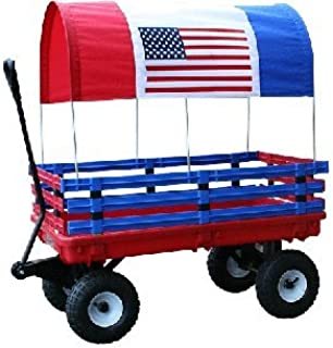 Millside Industries Trekker Wagon with Red and Blue Poly Racks