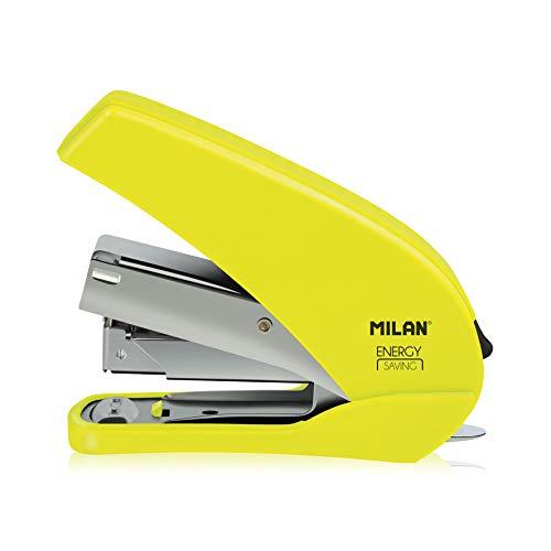 MILAN 191071Y: Grapadora Amarillo fluo