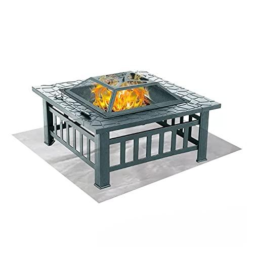 Jodsen Tappetino ignifugo,100x100cm Tappetino per Barbecue con griglia per Barbecue Tappetino per Isolamento Termico per Barbecue da Picnic,Coperta antincendio in Silicone Resistente